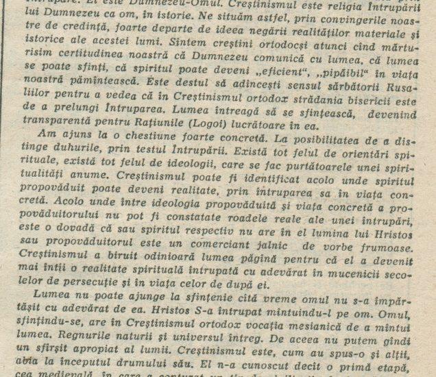 Despre Ortodoxie II – 5.03.1990 – România Liberă – Lumea Creștină