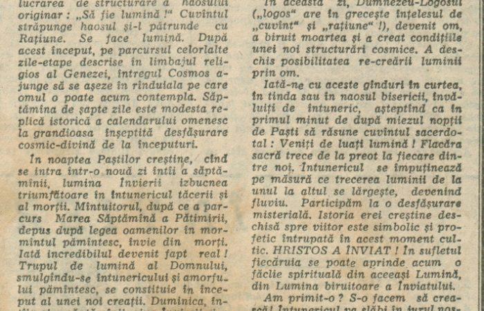 Învierea – 14.04.1990 – România Liberă – Lumea Creștină